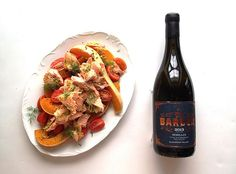 Trout & Butternut Salad paired with Opstal 'The Barber' Semillon South African Wine, Wine Pairings, Pulled Pork, Trout, Wine Recipes, Barber, Wines, Management, Yummy Food