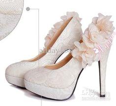 apricot wedding heels