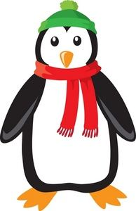 christmas penguin   Free Penguin Clip Art Image - Penguin Dressed up For Winter with a Cap ...