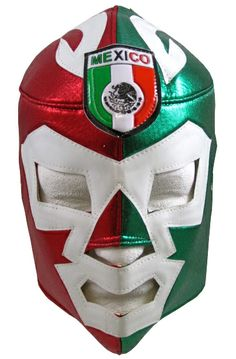 MEXICO WAGNER Lucha Libre Wrestling  Green/Red luchador mask