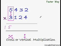Fast Multiplication Trick 5 - Trick to Directly Multiply the Big Numbers... Multiplication Tricks, Maths Tricks, Study Schedule, Fun Math Games, Simple Math, Positive Reinforcement, Arithmetic, Math Lessons, Mathematics