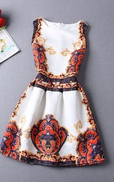 Korean Print Dress. Check them out at our website now.