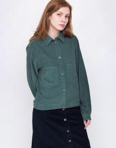 3685c57d6d9 Košile - Thinking MU - GREEN CORDUROY
