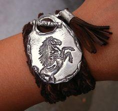Horse Jewelry Horse Bracelet Horse Leather Wrap от HappyGoLicky