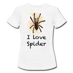 Imprimé Ilove spider Tee Shirts, Tees, Spider, My Love, Mens Tops, Women, T Shirts, T Shirts, Spiders
