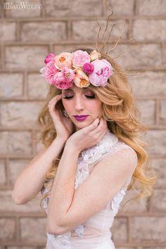 Vintage Reflections | Co-Producer & Florals: Ooh La La Designs | Co-Producer & Photography: Eva Derrick Photography | Boho Headpiece | Flower Crown | Beauty