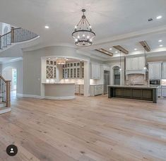In a dream house I would want a kitchen set up like this. That separate bar area! Dream House Interior, Luxury Homes Dream Houses, Dream Home Design, My Dream Home, House Design, Design Design, Design Living Room, Dream House Plans, House Goals