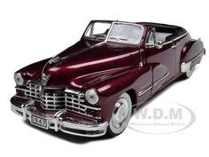 1947 Cadillac Series 62 Convertible Burgundy 1/32 Diecast Model Car by Signature Models-$12.99