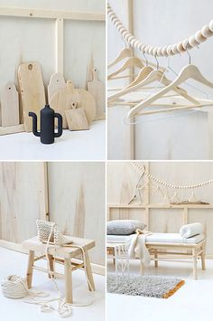 blond wood & white by the style files