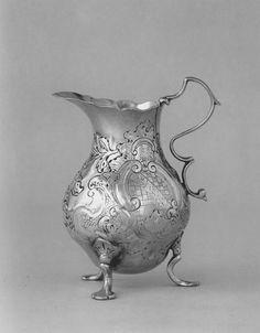 Silver Creampot - 1761 - Paul Revere, Jr. (American, 1734–1818) - Made in Boston, Massa chusetts -  Dimensions: 11.11 cm (4 3/8 in.)