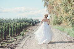 Floral Wedding Dress Aquarell romantisch von FrenchKnotCouture