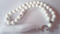 Купить Четки Белые - четки, четки из камня, четки на заказ, модный аксессуар, модный подарок