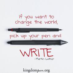 Kingdom Pen, writing quotes
