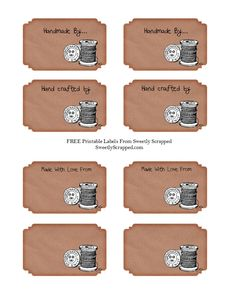 Sweetly Scrapped: Free Download - Handmade By Labels... Variety of Sayings....
