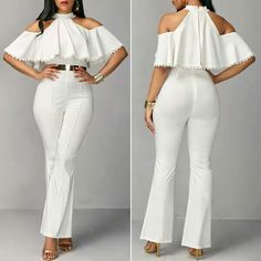 All White Party Outfits, Classy Work Outfits, Trendy Outfits, Chic Outfits, Fashion Wear, Fashion Pants, Fashion Outfits, Girls Fashion Clothes, Clothes For Women