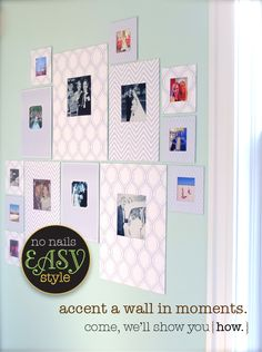 Inmats Display Life Beautifully Home No Nails Hammers Adhesive And Removable Squares To Use Instead Of Picture Frames