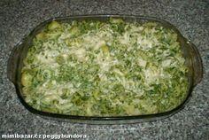 Těstoviny se sýry a špenátem