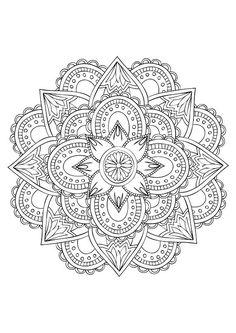 coloriage-mandala-adulte-15 #mandala #coloriage #adulte via dessin2mandala.com