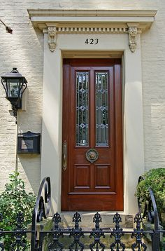Door to a historic residence in Madison, Indiana. Located on the Ohio River, Madison was once the largest city in Indiana. Many of the historic houses in Madison were built before the Civil War. Front Door Entryway, Front Door Makeover, Entry Doors, Front Doors, Portal, The Doors Of Perception, Door Picture, Front Entrances, Door Furniture