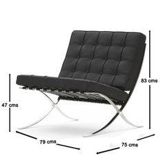 Mueble Design Muebles de diseño - Modern Classics de diseño - Silla Barcelona Polipiel