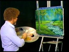 Bob Ross - Bubbling Brook - Painting Video