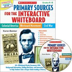 Primary Sources for the Interactive Whiteboard