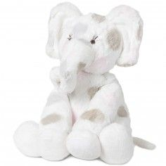 Peluche Little E l'éléphant pois rose (30 cm) - Little giraffe