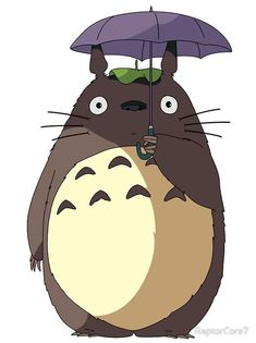My Neighbour Totoro - Umbrella Totoro Studio Ghibli Films, Studio Ghibli Characters, Studio Ghibli Art, Hayao Miyazaki, Studio Ghibli Wallpaper, Totoro Umbrella, Totoro Drawing, Personajes Studio Ghibli, Studio Ghibli