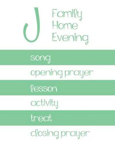 FHE Family Home Evening Assignment Board / Chart LDS Printable by MyPoshDesigns, $6.00