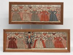 19th c. Folk Art Swiss Valances