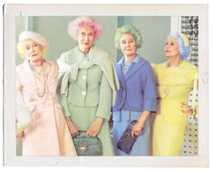 When the clock strikes 70 I'm doing this.  PP: Badass. Old ladies with bright colored hair  It is Cute :)