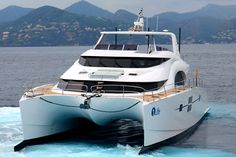 The 70 Sunreef Power continues the legacy of Sunreef Yachts' seaworthy and fully-customizable motoryachts. A dynamic and elegant luxury craft, she belongs Sunreef Yachts, Fishing Yachts, Power Ranges, Motor Yacht, Power Boats, Catamaran, Product Launch, Life, Motorbikes