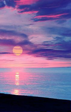 Colorful Sunset over the Ocean photography colorful sky sunset Beautiful Sunset, Beautiful World, Beautiful Places, Stunningly Beautiful, Beautiful Scenery, Wonderful Places, Absolutely Gorgeous, All Nature, Amazing Nature