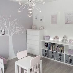 Girly room - Simple White Kids Bedroom with Craft Table and Storage kidsspace kidsroom big Baby Bedroom, Baby Room Decor, Girls Bedroom, Bedroom Decor, Bedroom Lighting, Bedroom Lamps, Bedroom Shelving, White Bedroom, Bedroom Simple