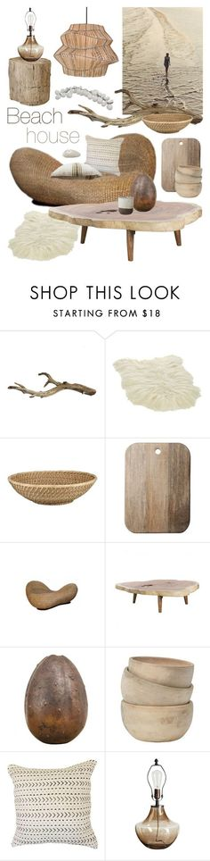 """""""Beach House"""" by ladomna ❤ liked on Polyvore featuring interior, interiors, interior design, home, home decor, interior decorating, CB2, Lenox, Toast and McGuire"""