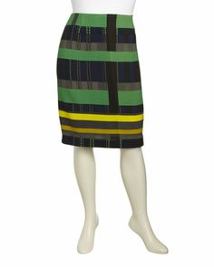Cubism Wool Slim Skirt, Spectrum, Plus Size Women's by Lafayette 148 New York at Neiman Marcus Last Call.