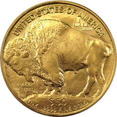 American 2006 Buffalo Gold Coin Reverse.