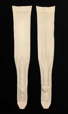 Stockings  1890s  The Metropolitan Museum of Art  One of the interesting things about looking at the fashions of more conservative times is that it causes one to stop and think about the parts of the body that we consider sexy. The patterns on these...