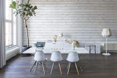 Horizontal Boards, white   R12582   Rebel Walls NL