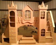 Girls Boys Kids Princess castle bunk bed furniture | eBay