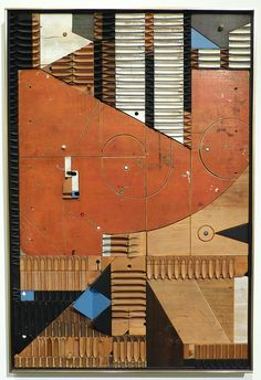Abe Ajay – Polychrome Wood Relief #209, 1964