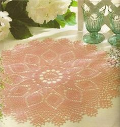 free crochet doily 1 284x300 Free Crochet Doily Patterns With Pineapple