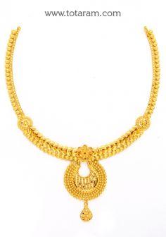 22K Gold Necklace: Totaram Jewelers: Buy Indian Gold jewelry & 18K Diamond jewelry