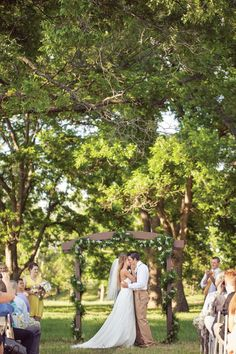 Darling outdoor altar. Photo by Randy Coleman Photography. #wedding #altar