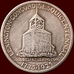 "United States - 1/2 Dollar 1925 ""Lexington Concord Sequicentennial"" silver"
