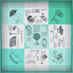 Hermès S/S2016 Les Objets Introuvables H893094S-04 45cm Silk Scarf