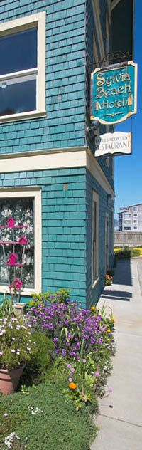 """Sylvia Beach Hotel, Nye Beach, Oregon. """"Truly a hotel for book lovers."""" Author-themed guest rooms and an upstairs library."""