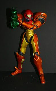 toycutter: Custom Action Figure: Samus with removable helmet