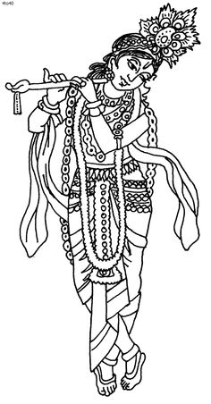 coloring pages of lord krishna - images of line drawing krishna google search drawings