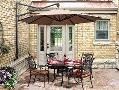 Outdoor Garden Tilt Umbrella Visit: http://www.versatile.ae/parasol/ #outdoorumbrella #patioumbrella #cantileveroutdoorumbrella #versatileshadingsolutions #middleeast #parasol